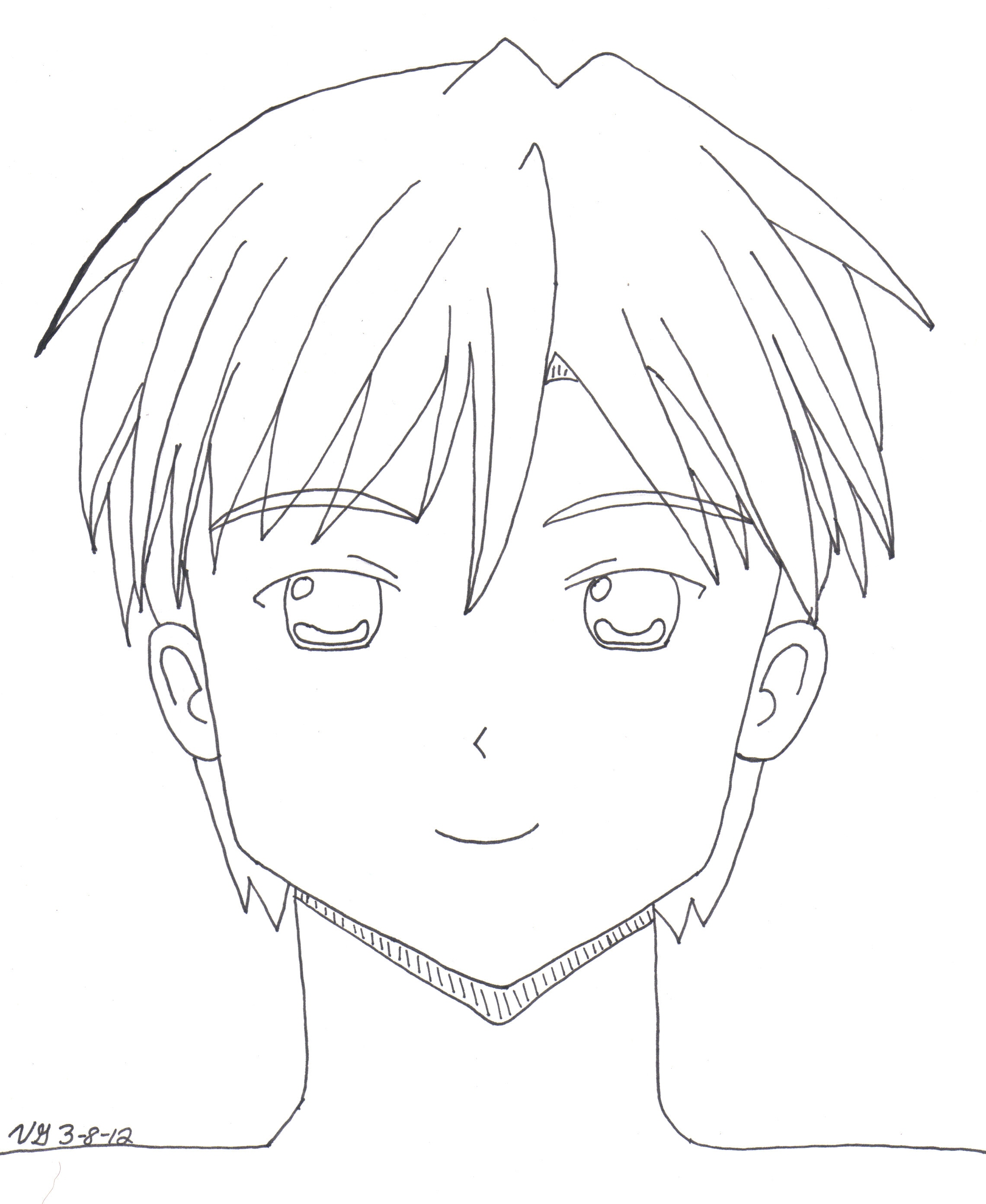 2280x2784 drawings manga boy woman anime line art Nittoai