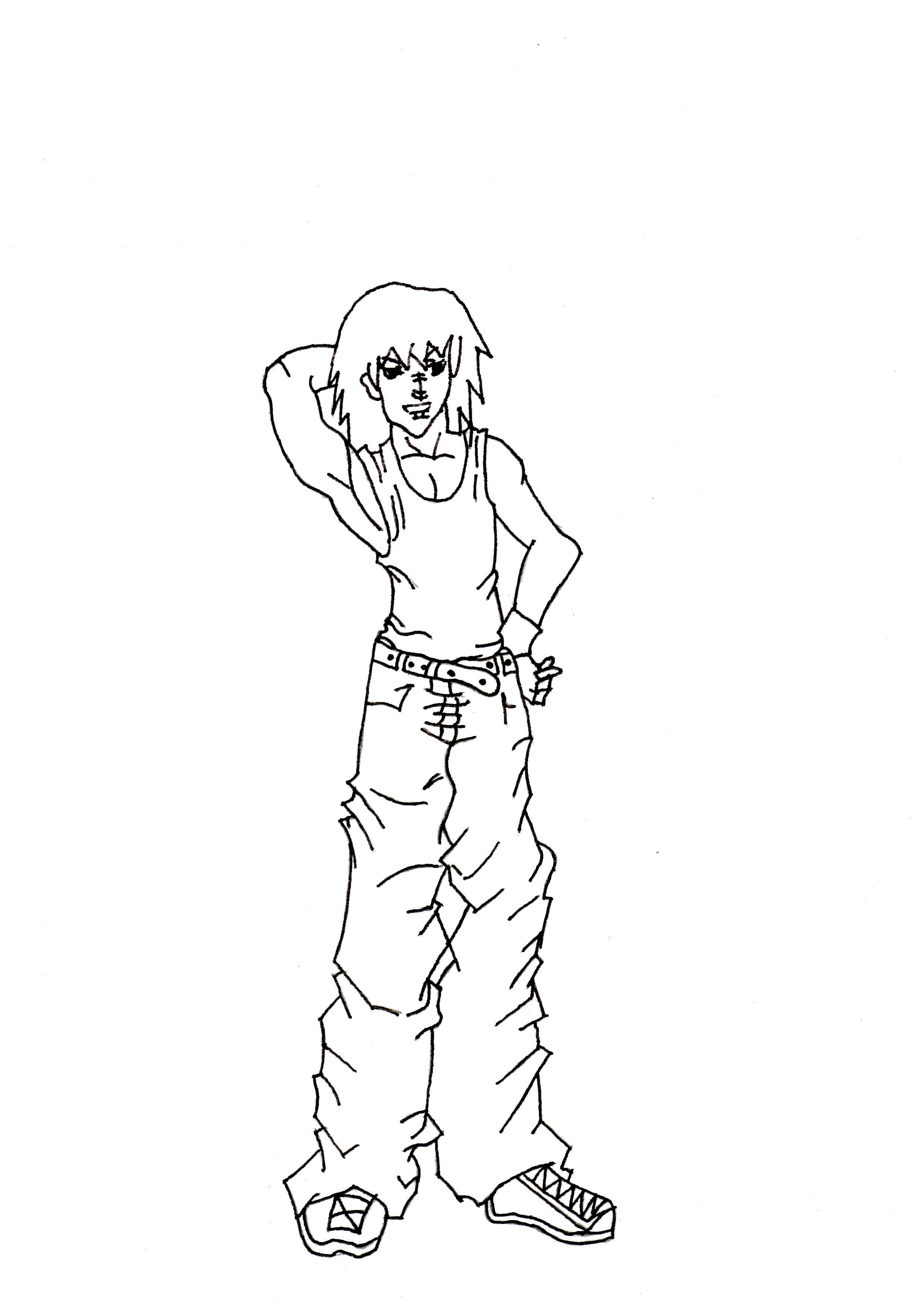 2477x3500 Boy Manga Sketch Full Body Drawn Manga Male Drawing