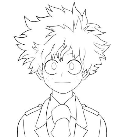 400x451 Boku no Hero Academia How to draw Midoriya