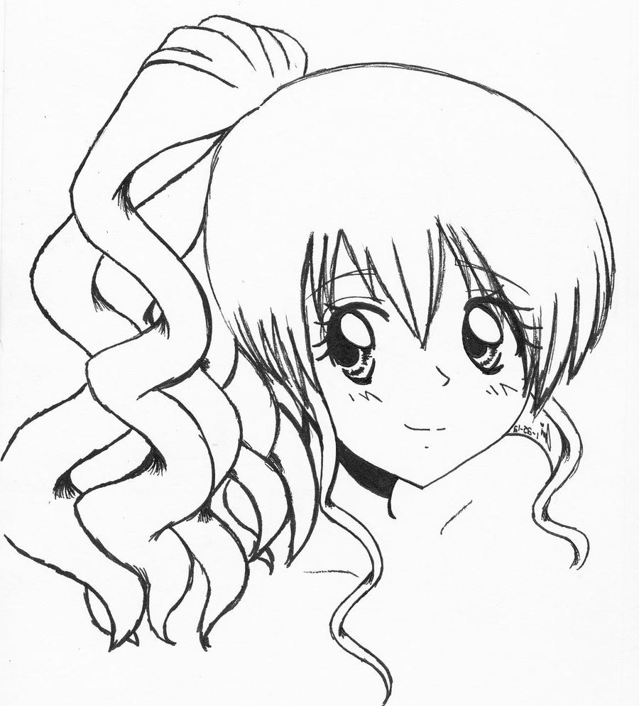 900x994 How To Draw An Animation Girl Drawn Manga Cartoon Drawing