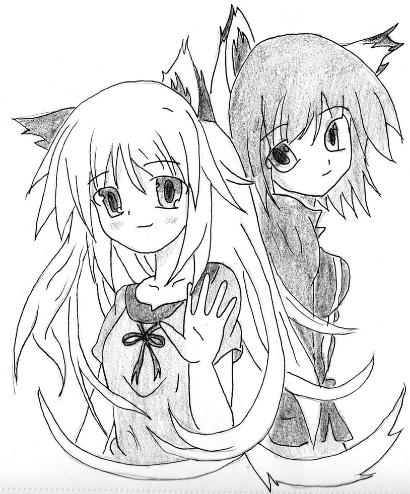 814x982 anime cat girls by flashthetv on DeviantArt