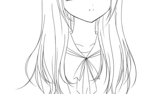 570x320 Anime Cat Girl Drawing Draw Manga Cat Girl (Neko)