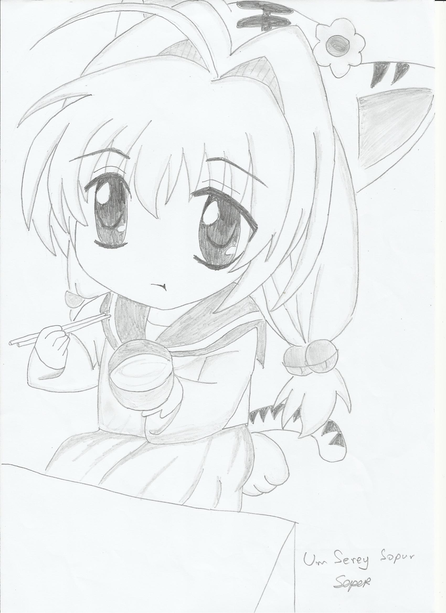 1700x2337 How To Draw Chibi Cat Girl Draw Manga Cat Girl (Neko)