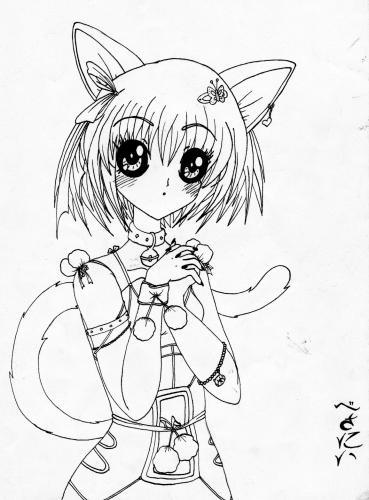369x500 Manga Cat Girl Drawing Read Manga