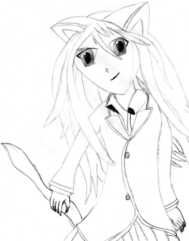 791x1009 Manga Cat Girl By Agent40