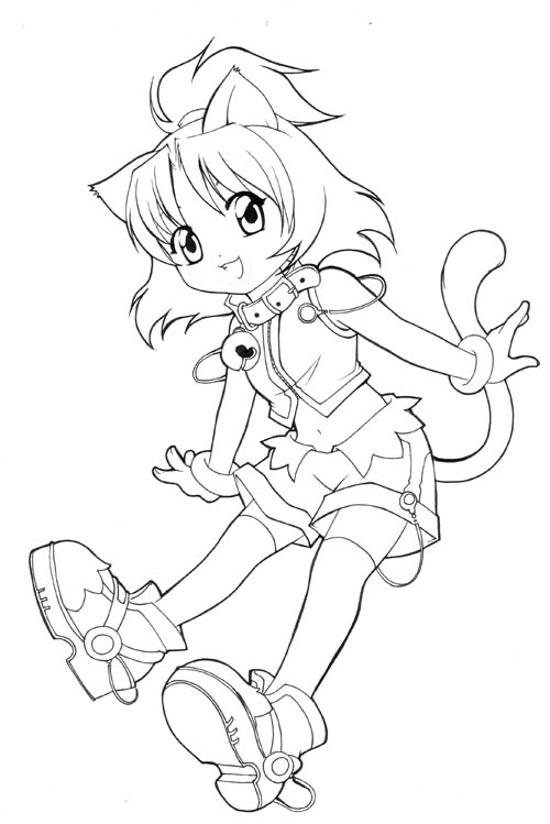 500x749 Unfinished Chibi Catgirl By Nekoshiei