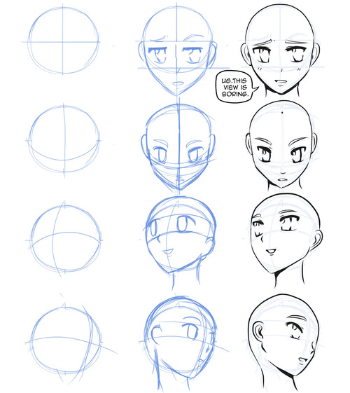 500x561 How To Draw Manga How To Draw Manga Faces