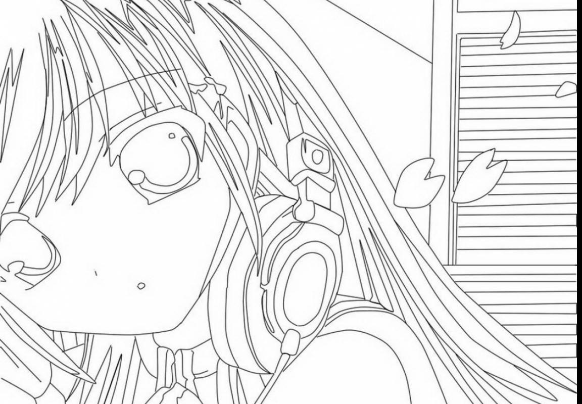 1152x800 Incredible Drawings Anime Girl Coloring Pages Printable Manga Page