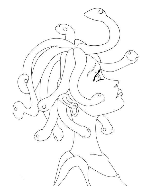 600x762 Manga Drawing Medusa Coloring Page