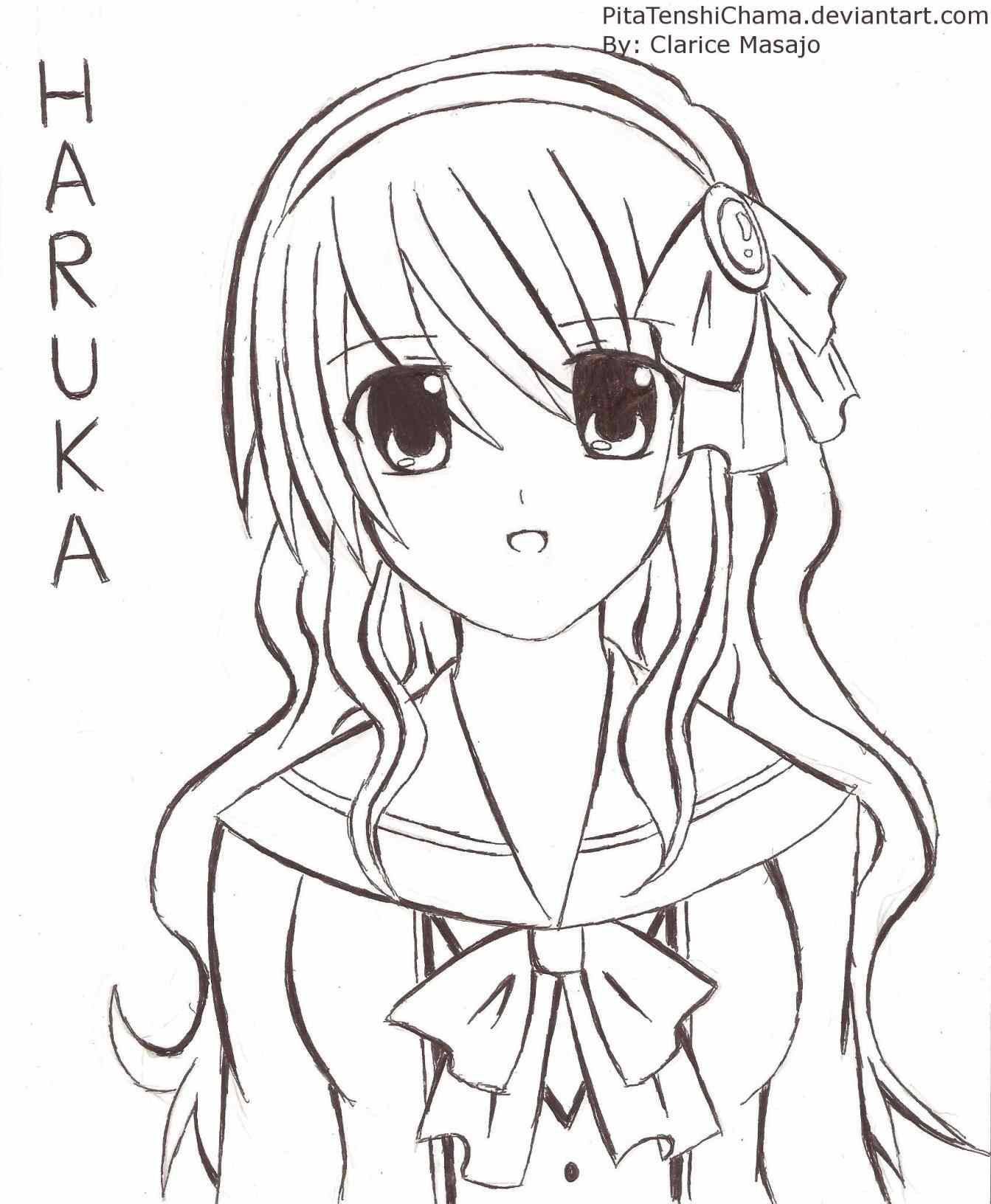 1343x1632 Need This Drawing Curly Easy Manga Girl Hairstyles Hair Reference
