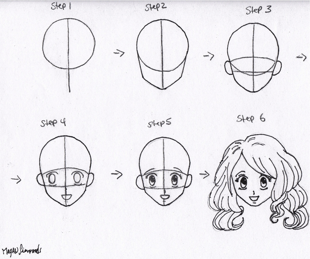 1024x854 Easy To Draw Anime Faces Easy To Draw Anime Faces How To Draw