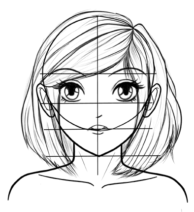 394x430 How To Draw Manga Faces Step By Step For A Beginner Manga, Face