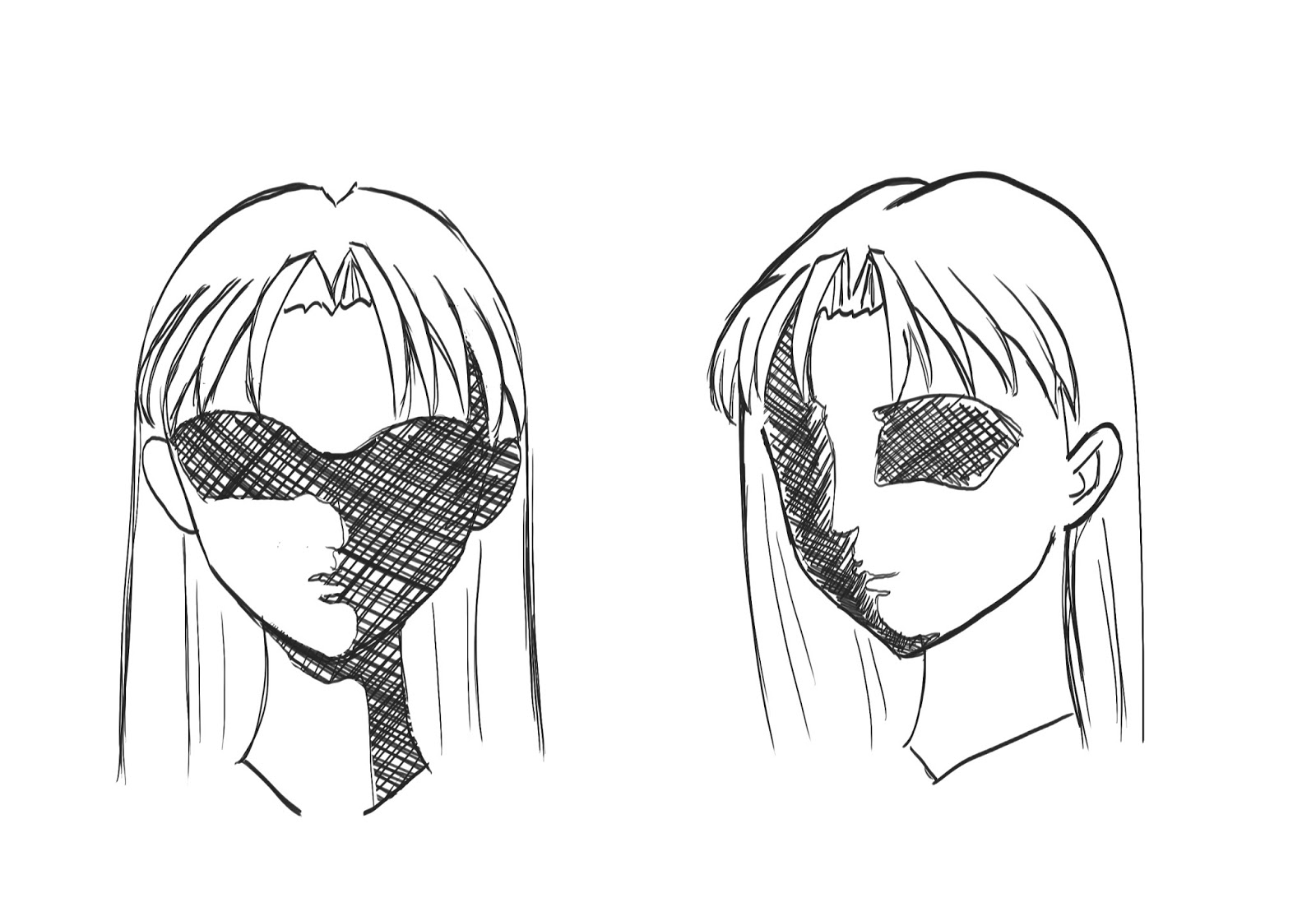 1600x1103 Drawn Manga Hair Drawing