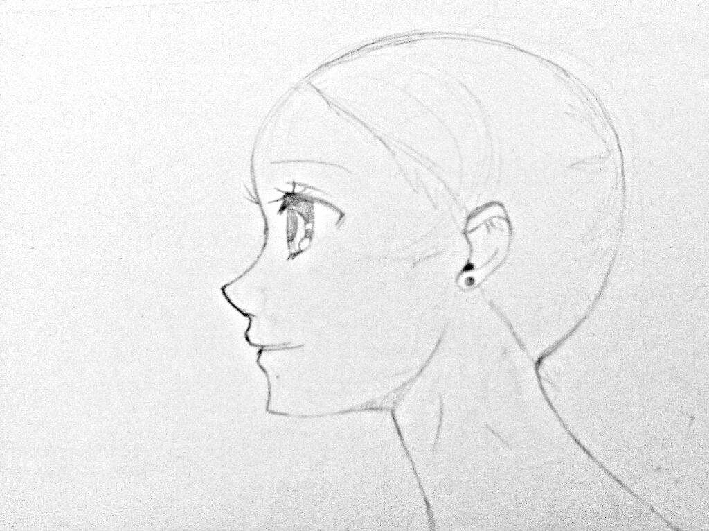 Line Drawing Female : Manga faces drawing at getdrawings free for personal use