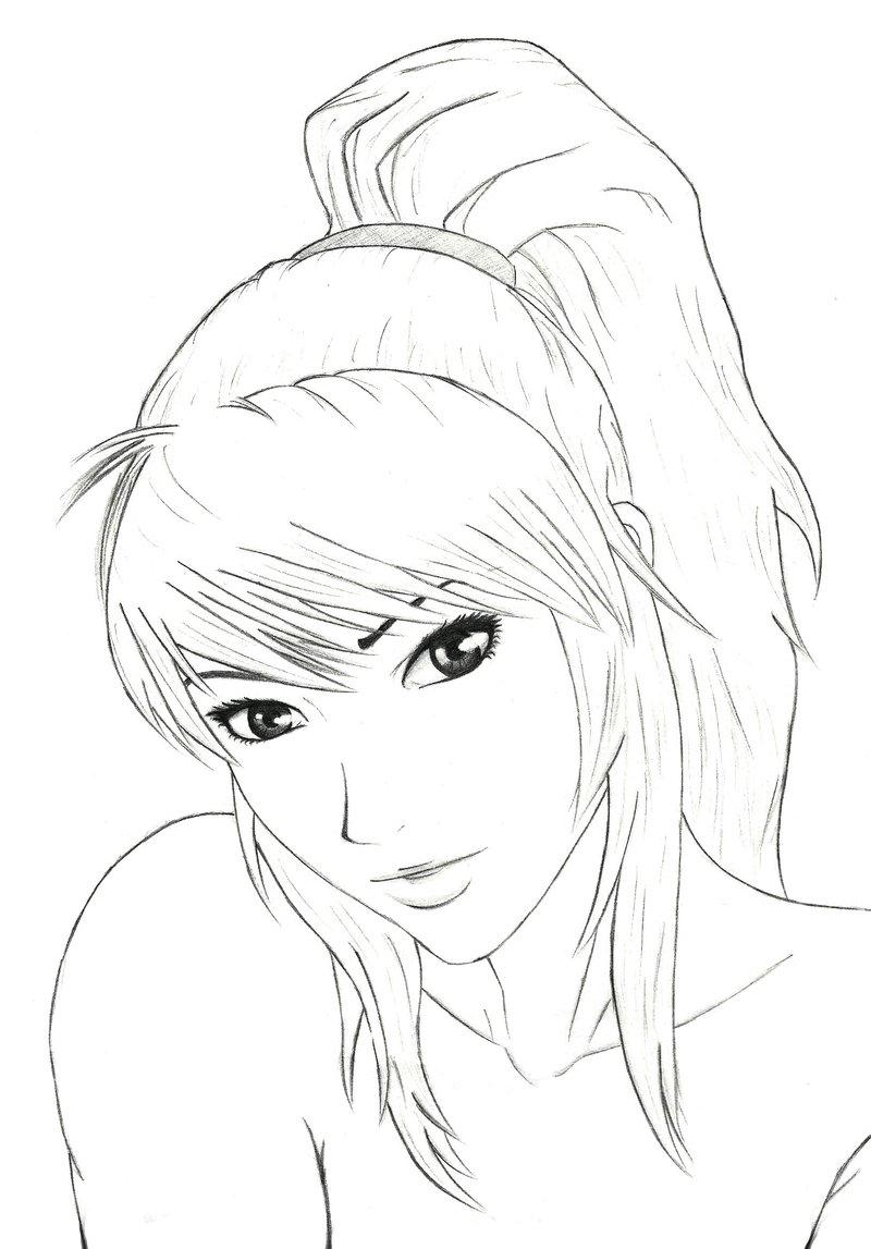 800x1147 Girls Face By Mangekyoubi