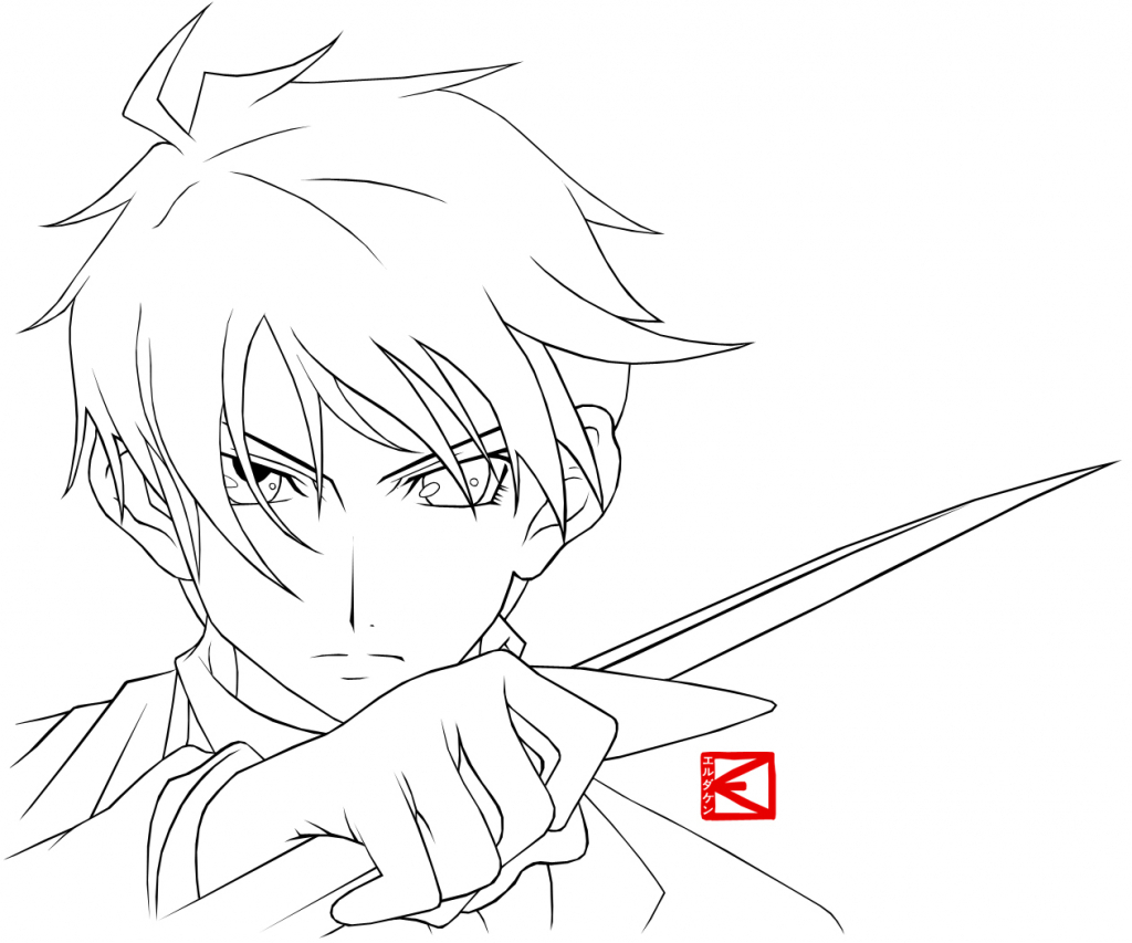 1024x853 Anime Drawing Outline Anime Faces To Draw 9. How To Draw Anime