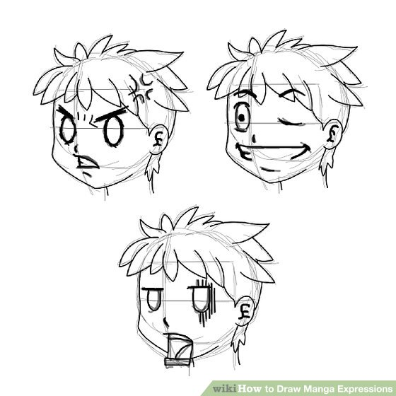 560x560 How To Draw Manga Expressions 6 Steps (With Pictures)