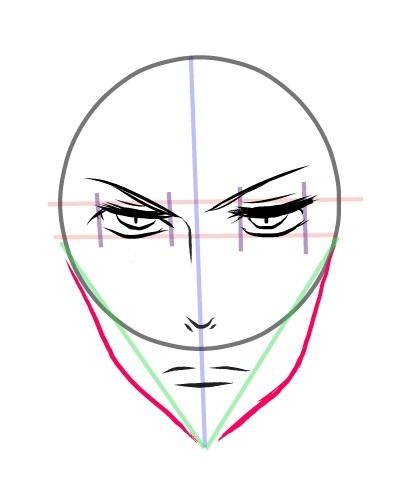398x479 How To Draw Manga Tutorial How To Draw Manga Face (Shounen Style
