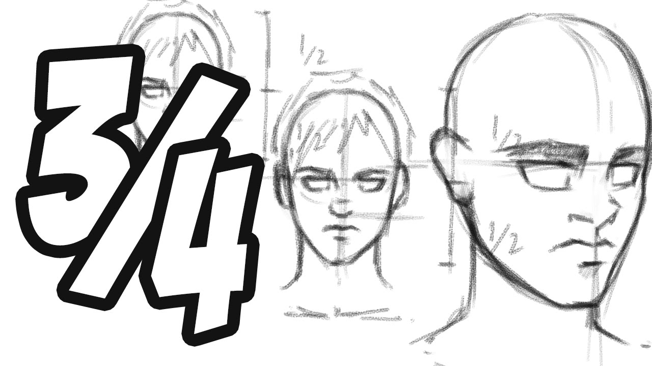 1280x720 How To Draw The Head 34 View