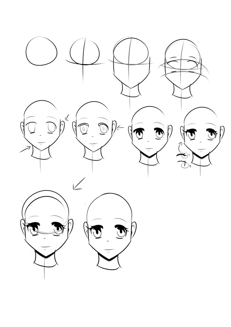 752x1063 Tutorial Basic Manga Head Female By Kattugglan