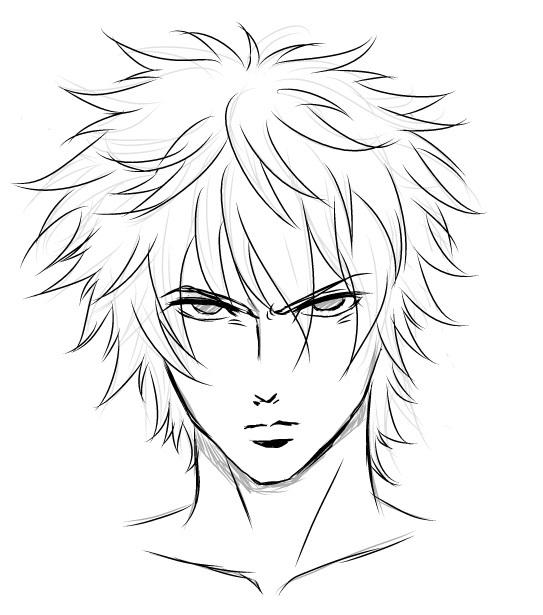 543x615 Angry Manga Face Drawing Material