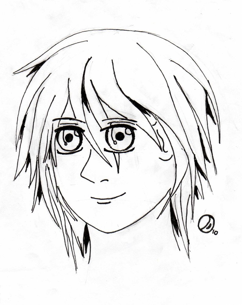 796x1003 First Manga Head Drawing By Dantevian