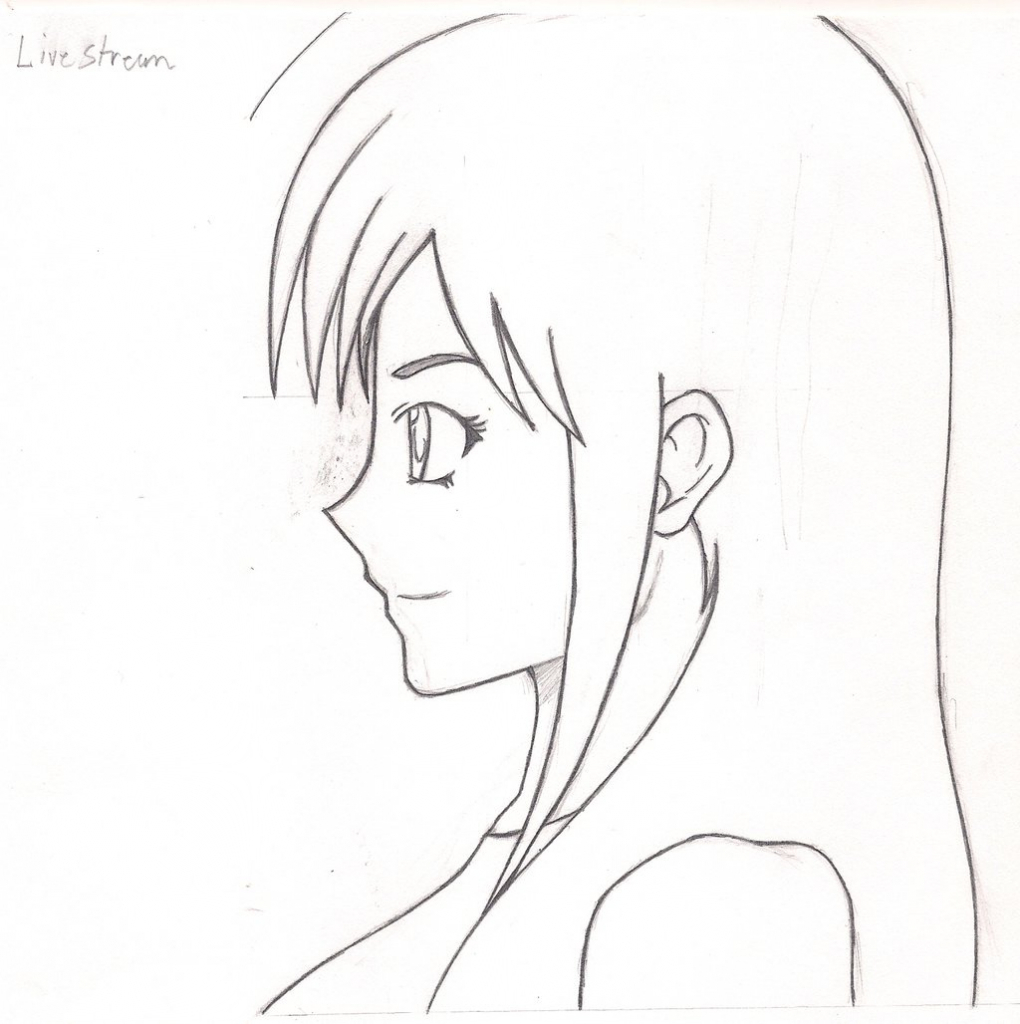 1020x1024 Anime Girl Face Side Profile 1000 Images About Practice Amp