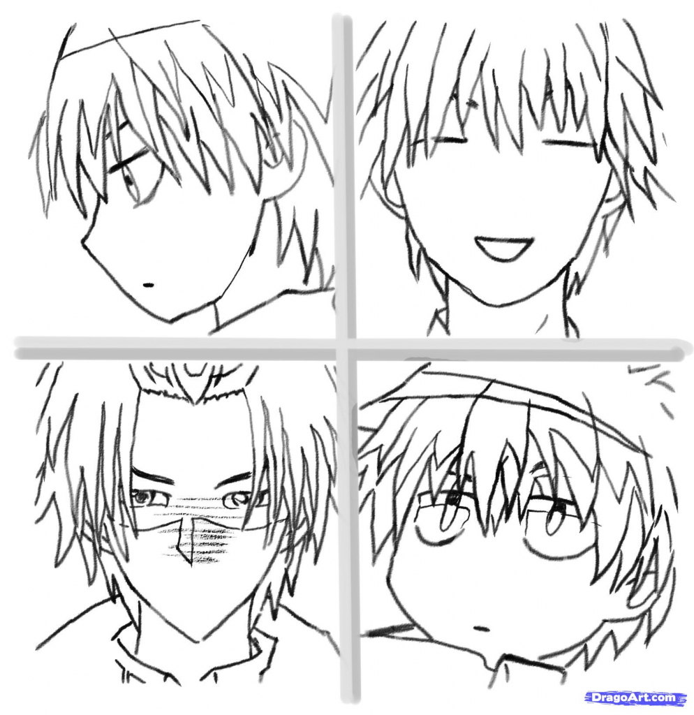 994x1024 Anime Step By Step Drawing Faces Step 9 How To Draw Anime Faces