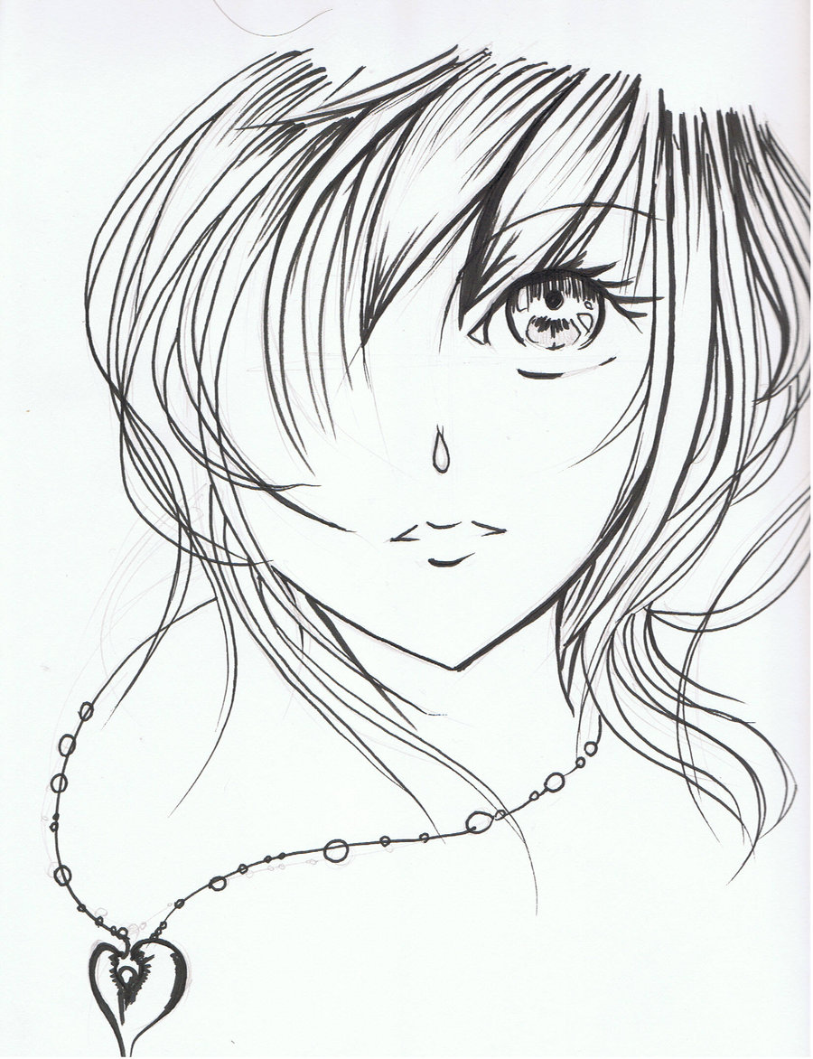 900x1172 Pictures Anime Girl Face Drawings,