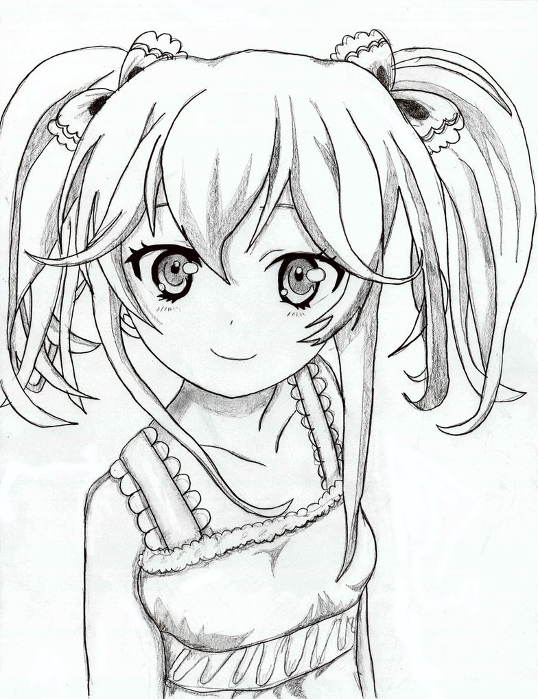 784x1018 Pictures Cute Manga Girl Drawing,