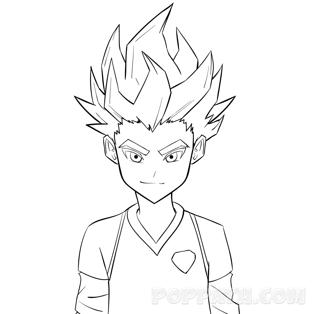 1000x1000 How To Draw A Spiky Haired Guy Pop Path