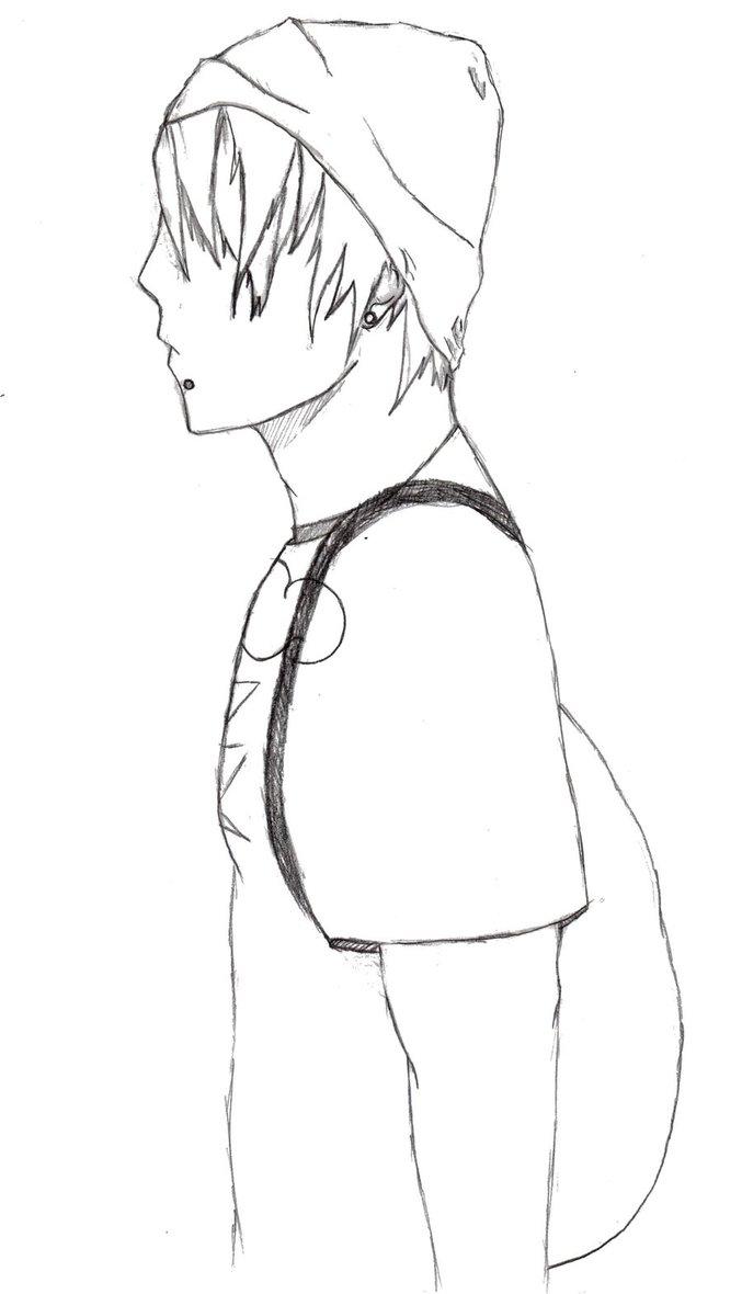 677x1180 Manga Guy With Beanie By Imangaartist