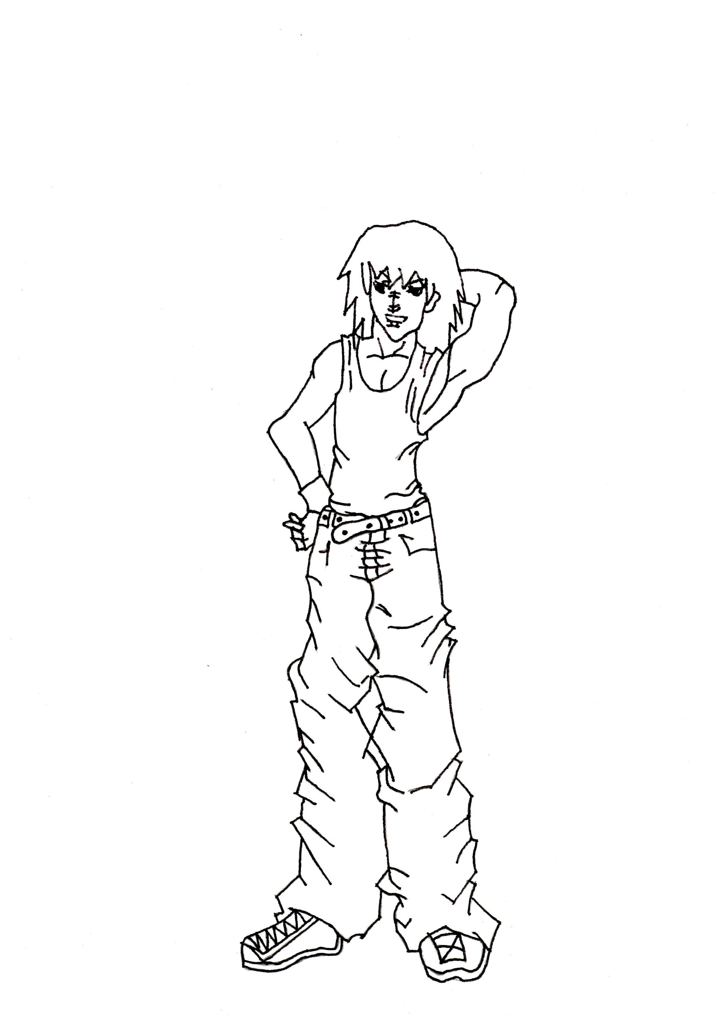 2477x3500 Step Drawing Anime Boy Cool Full Body Drawn Manga Guy Drawing