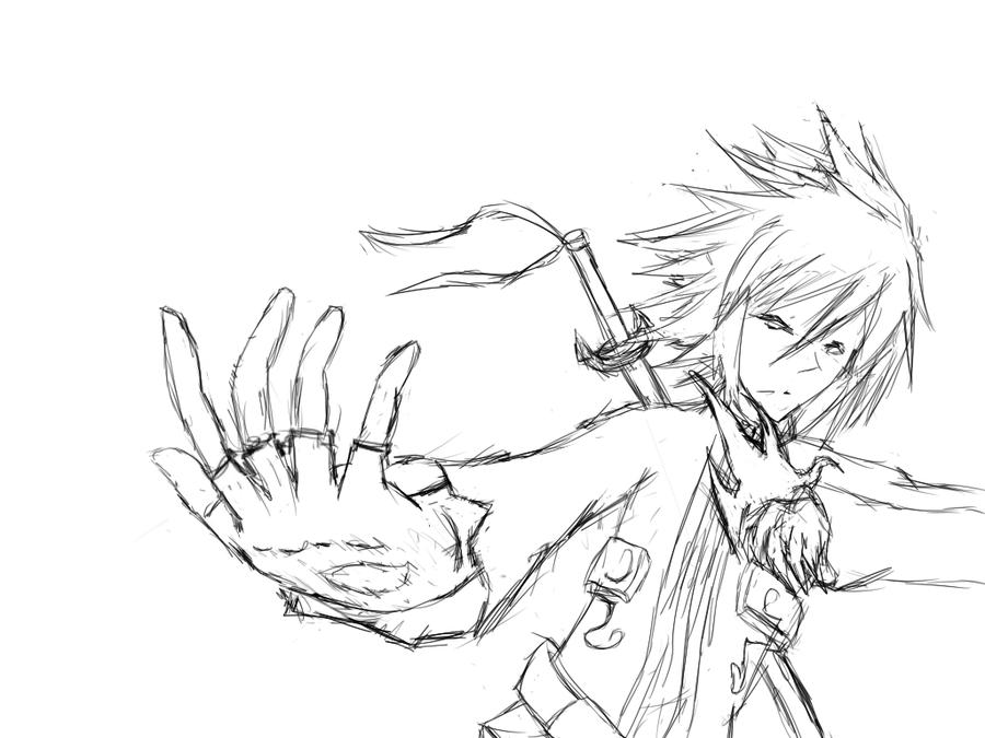 900x675 Sword Guy Sketch By Jyunaut