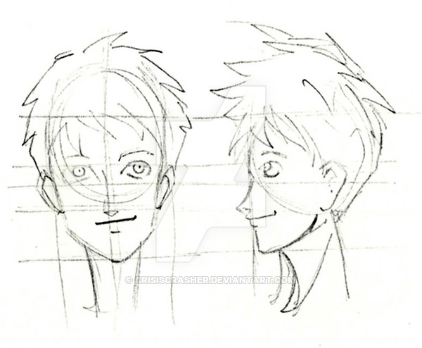600x494 Face Profile Of A Manga Boy By Crisiscrasher