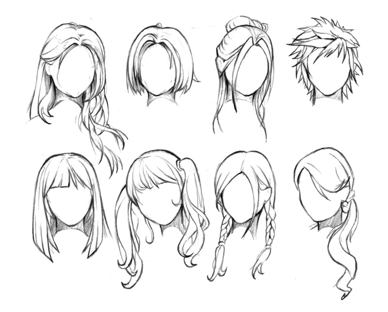 Manga Hair Drawing
