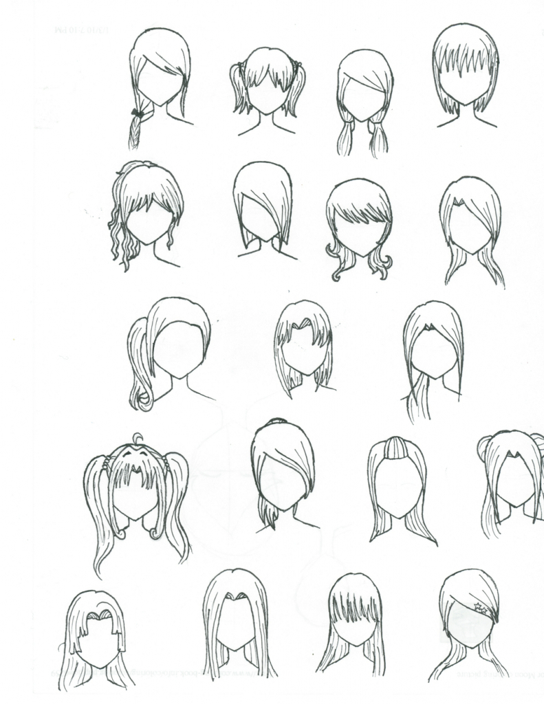 how to draw anime hair doc