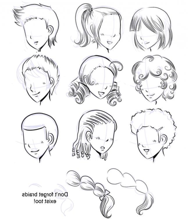650x759 How To Draw Manga How To Draw Manga Hair In How To Draw Straight
