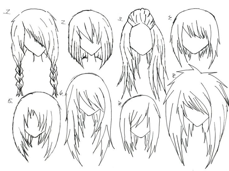 736x552 Image Result How To Draw Anime Girl Hair Step By Step