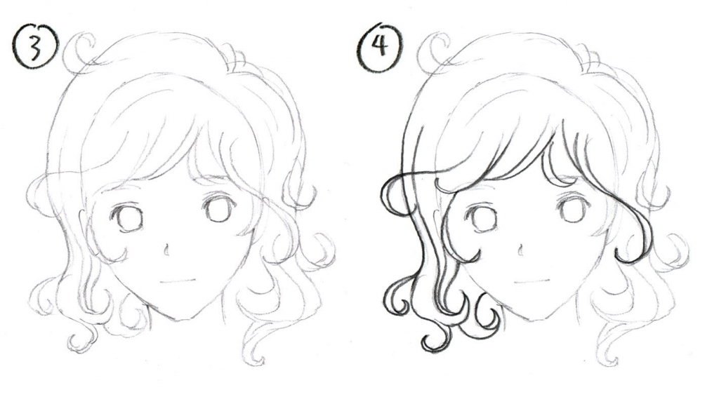 1024x576 Curly Hair Drawing Johnnybro39s How To Draw Manga How To Draw