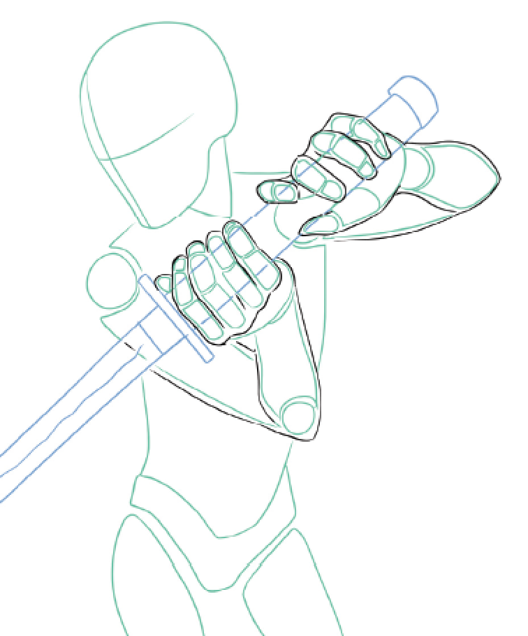 756x910 How To Draw Manga Poses With Weapons