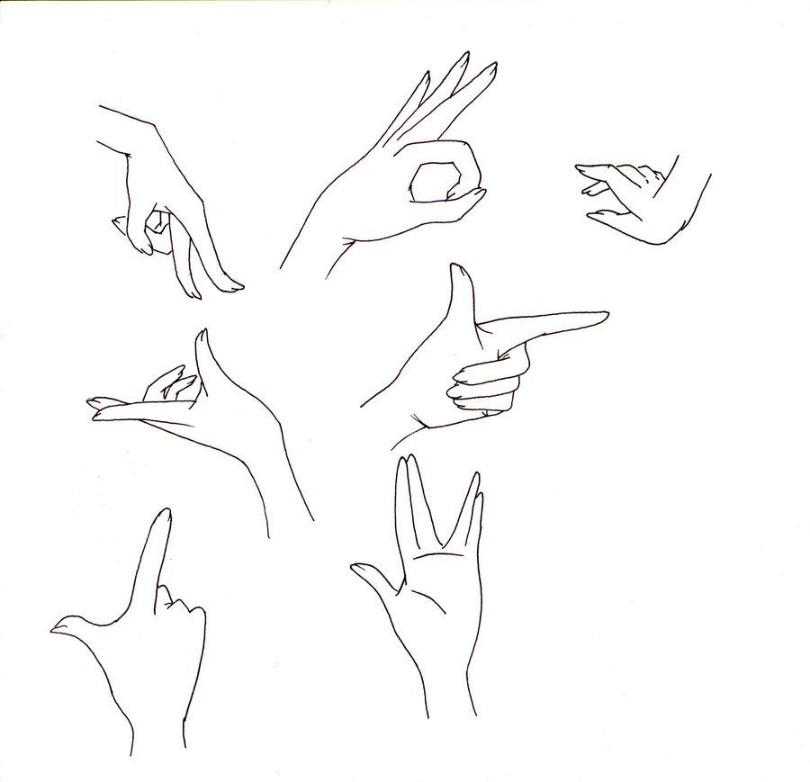900x869 Manga Hands Ii By Kakika