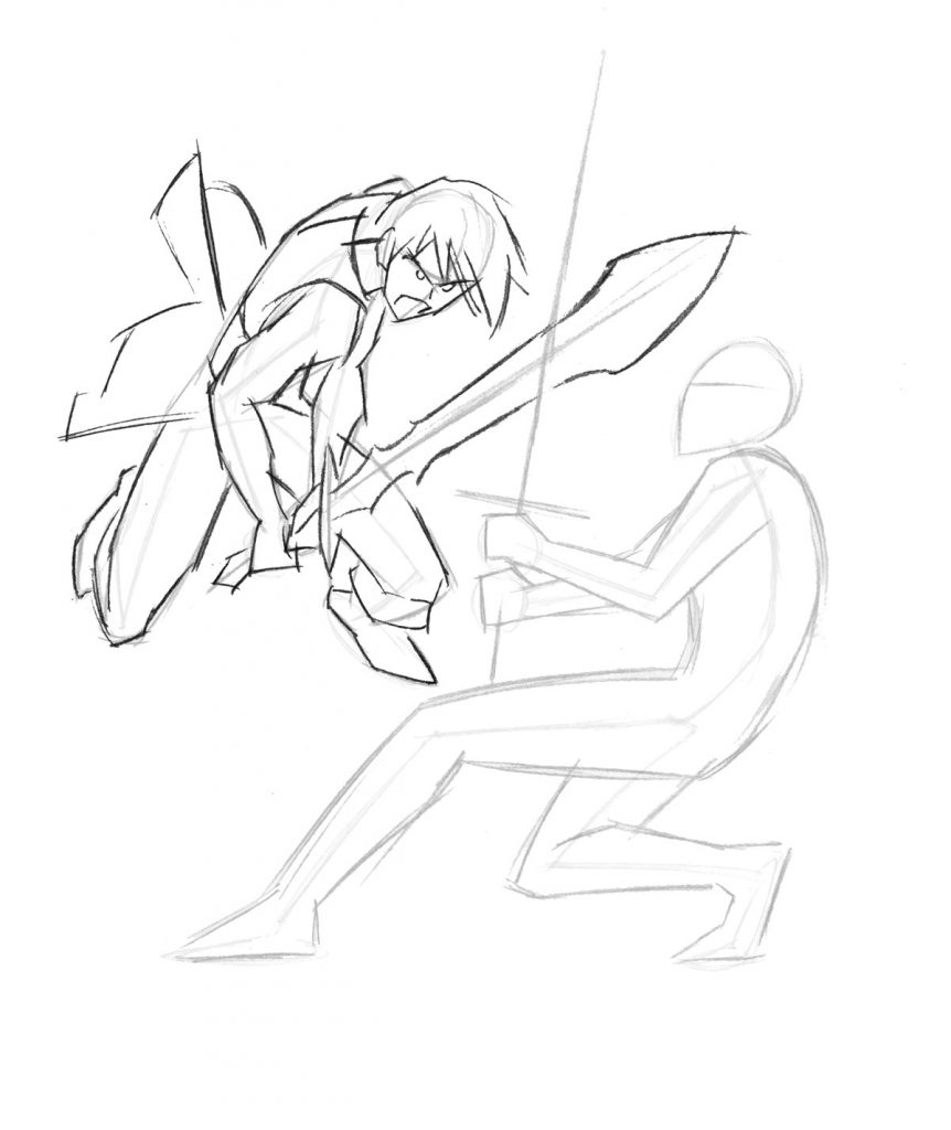 862x1024 Mastering Manga 3 How To Draw A Sword Fight