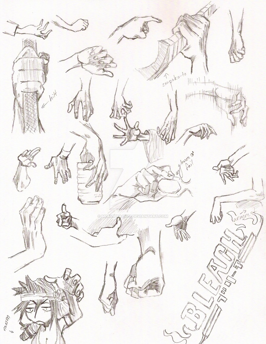 900x1165 Bleach Hand Reference Page 5 By Momopeach32