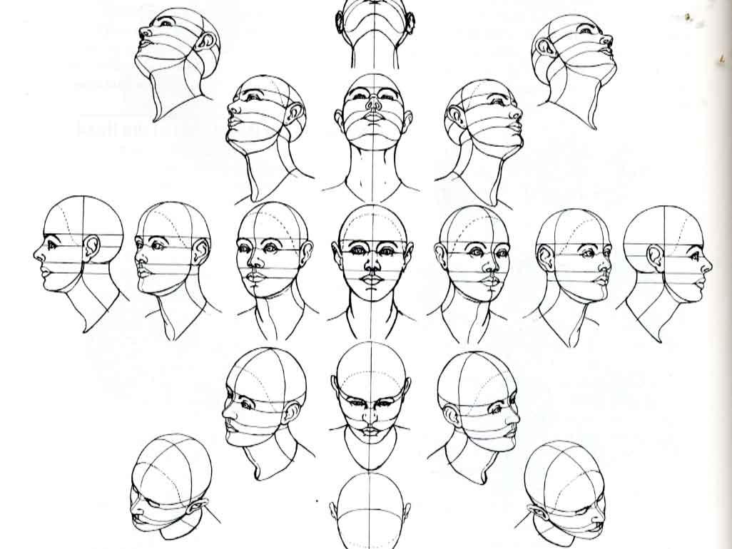 drawing head diagram block and schematic diagrams