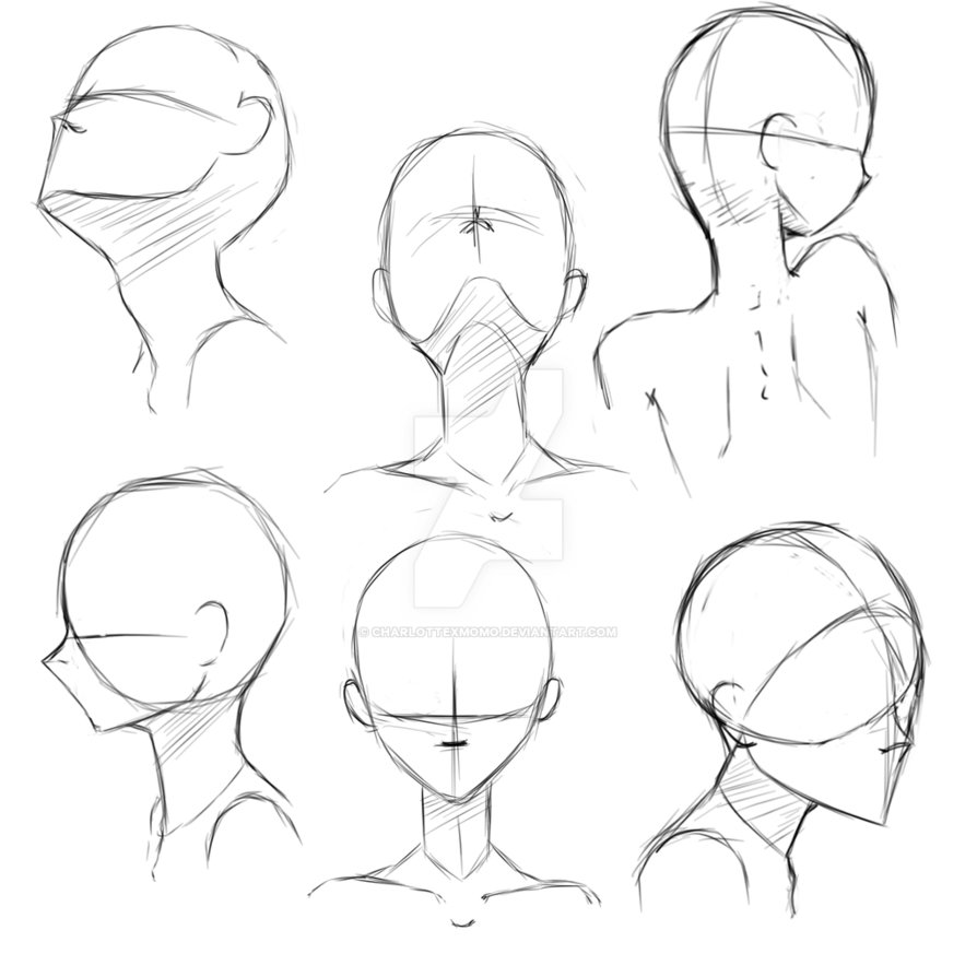 894x894 Gallery Anime Head Sketches,