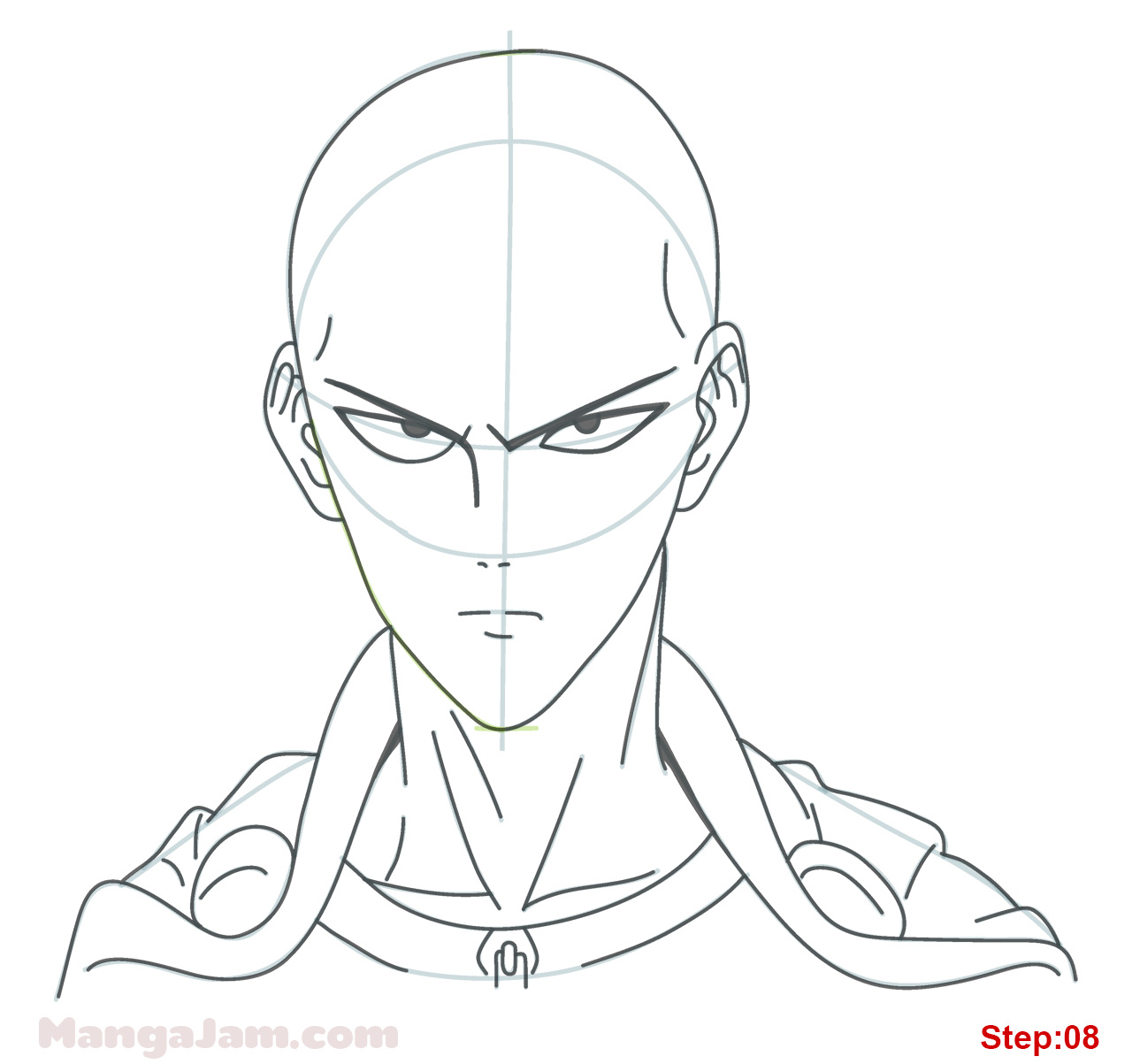 1280x1203 How To Draw Saitama From One Punch Man
