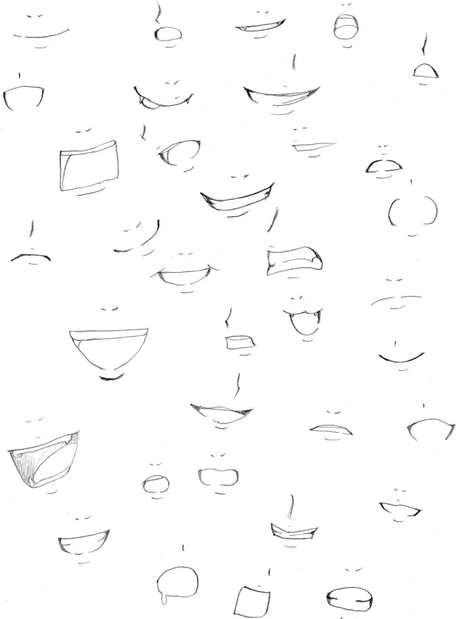 900x1216 Drawing Anime Mouths Mouth Practicefoxtrotmanga