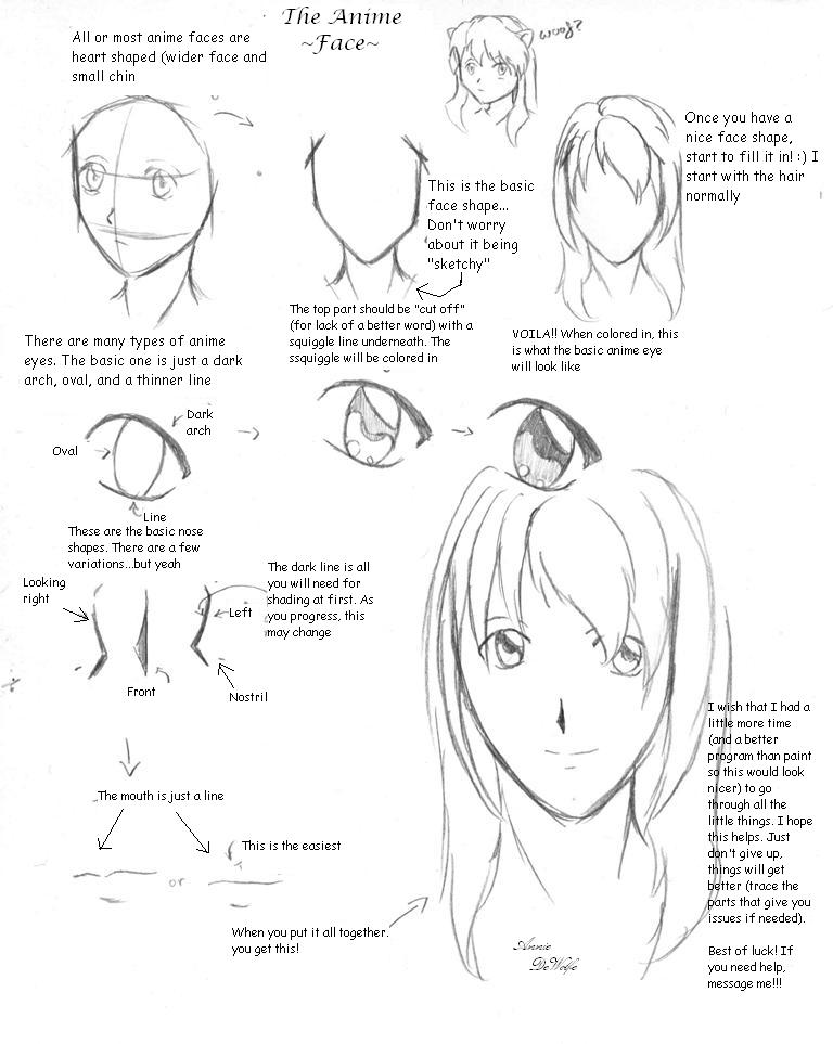 768x963 Anime Face Tutorial By Dwolfe06