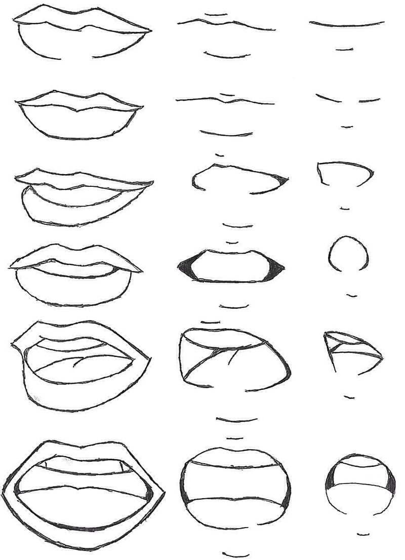 800x1106 Mouth Expressions By Andrea9291